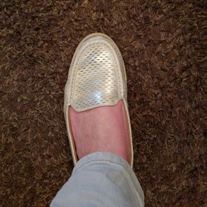 Shoes gold foil loafers